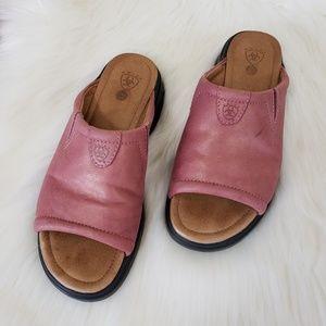Ariat Bridgeport Slip-on Rose Gold  Sandal 6.5